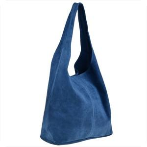 Niebieska torebka Borse in Pelle w stylu glamour