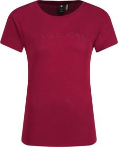 Czerwony t-shirt G- Star Raw z krótkim rękawem