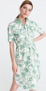 Sukienka Reserved w stylu casual koszulowa z krótkim rękawem