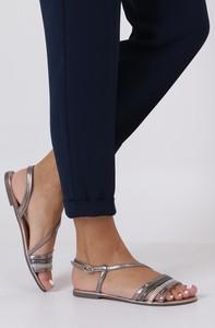 62c92be4801a6e złote sandały płaskie - stylowo i modnie z Allani