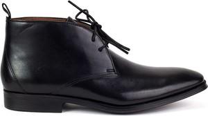 Brązowe buty zimowe Clarks ze skóry