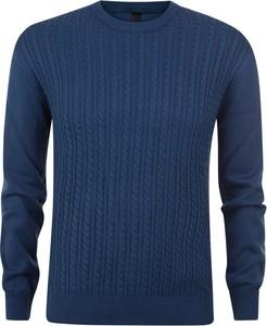 Niebieski sweter Evolution w stylu casual