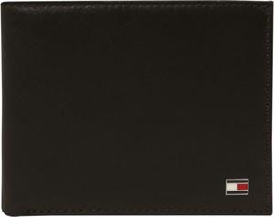Czarny portfel męski Tommy Hilfiger ze skóry