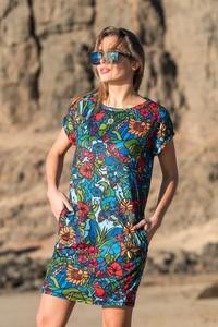 Sukienka Nessi Sportswear z krótkim rękawem mini z tkaniny