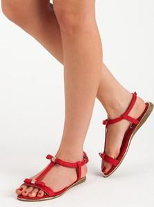 buty czerwone damskie adidas z kokardka