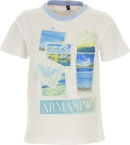 Koszulka dziecięca Emporio Armani z bawełny