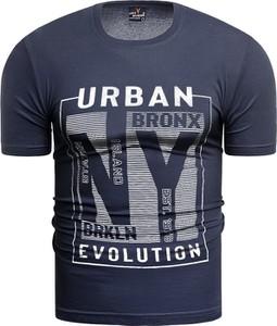 Niebieski t-shirt Risardi