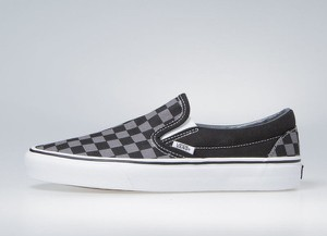 10e4bc78ba847 Sneakers buty Vans Classic Slip-On black / pewter checkerboard (black /  pewter checkerboard