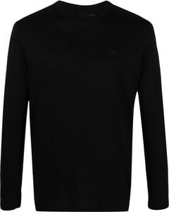 Czarny sweter Emporio Armani w stylu casual z wełny