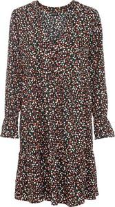 Sukienka bonprix mini z długim rękawem w stylu casual