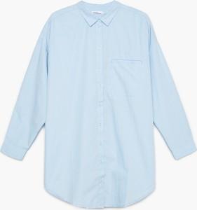 Niebieska koszula Cropp z długim rękawem