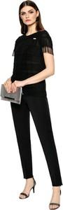 Czarna bluzka L'AF z krótkim rękawem
