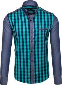 ddbdce9ed60d turkusowa koszula męska - stylowo i modnie z Allani