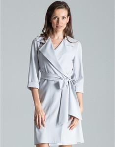 Sukienka Figl z długim rękawem w stylu casual koszulowa