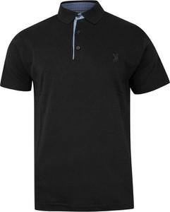 Czarna koszulka polo Expoman z bawełny