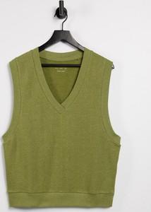 Zielona bluza Asos z dżerseju w stylu casual