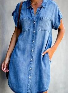Sukienka Arilook z bawełny mini koszulowa
