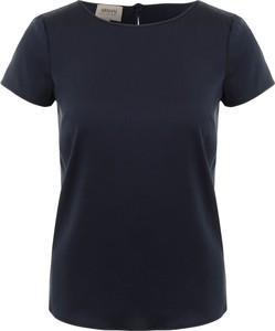 Bluzka Armani Jeans w stylu casual z okrągłym dekoltem z jedwabiu