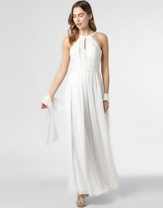 Sukienka Luxuar Fashion bez rękawów z tiulu rozkloszowana