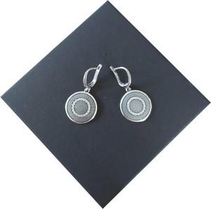 Global Silver 925 SREBRNE KOLCZYKI WISZĄCE CZĘŚĆ KOMPLETU K38