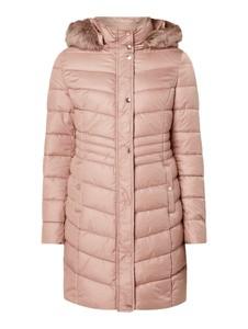 Różowy płaszcz Montego w stylu casual