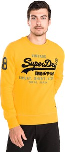 Żółta bluza Superdry z zamszu