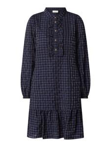 Granatowa sukienka Free/quent mini w stylu casual koszulowa
