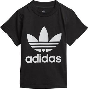 Czarna koszulka dziecięca Adidas z krótkim rękawem
