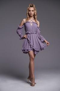 Fioletowa sukienka Ella Boutique hiszpanka