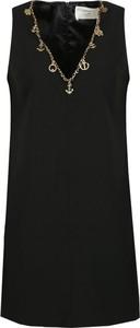 Sukienka Elisabetta Franchi mini prosta z dekoltem w kształcie litery v
