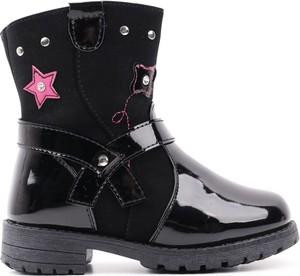 Czarne buty dziecięce zimowe Yourshoes na zamek