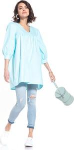 Niebieska sukienka Tessita z bawełny mini