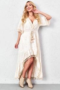 Sukienka ZOiO.pl maxi z dekoltem w kształcie litery v