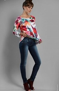 Elpasa Granatowe jeansy ciążowe Millie