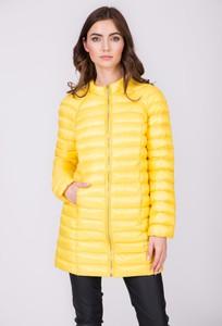 Żółty płaszcz QUIOSQUE w stylu casual