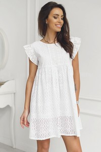 f50fc13a96 biała ażurowa sukienka - stylowo i modnie z Allani