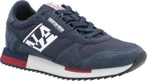 Niebieskie buty sportowe Napapijri sznurowane