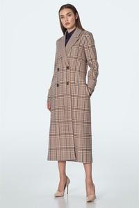 Brązowy płaszcz Nife w stylu casual