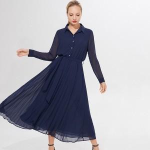 Sukienka Mohito z szyfonu z długim rękawem