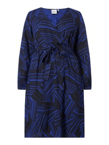 Sukienka Junarose z dekoltem w kształcie litery v z długim rękawem koszulowa