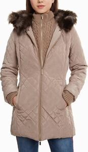 Brązowa kurtka Desigual długa w stylu casual