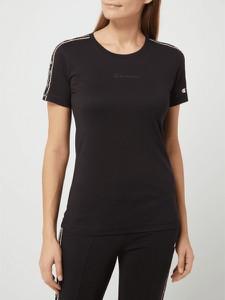 Czarny t-shirt Champion z bawełny z okrągłym dekoltem