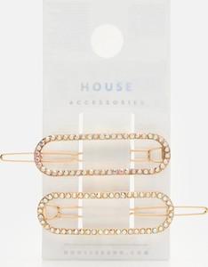 House - Ozdobne spinki do włosów 2-pak - Złoty