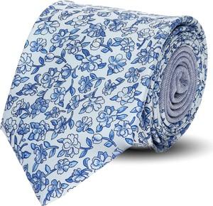 Wielokolorowy krawat recman w abstrakcyjne wzory