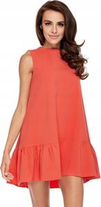 Sukienka Inna z okrągłym dekoltem bez rękawów mini