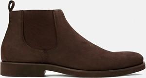 Brązowe buty zimowe Kazar ze skóry