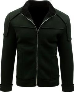 Czarny płaszcz męski Dstreet w stylu casual