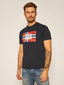 T-shirt Napapijri z nadrukiem w młodzieżowym stylu