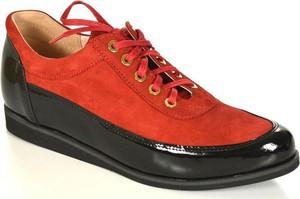 Oleksy 2105/542/c24 czerwony/czarny półbuty damskie