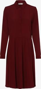 Czerwona sukienka Minimum mini z długim rękawem z kołnierzykiem